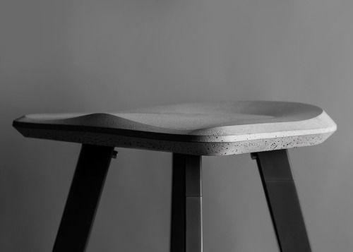 "henrycaird: ""Concrete Bar Stool | Bentu Design """