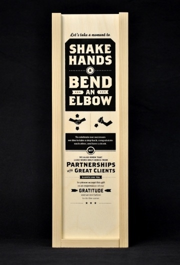 FPO: Shake Hands & Bend an Elbow Gift #packaging #design #typography