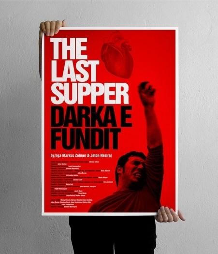 projectgraphics - typo/graphic posters #poster #prishtina #kosovo #projectgraphics #thetre play #the last supper