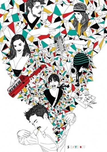 Nathalie made this. Freelance illustrator Nathalie Otter. #festival #pop #color #graphic #illustration #poster #amsterdam #music