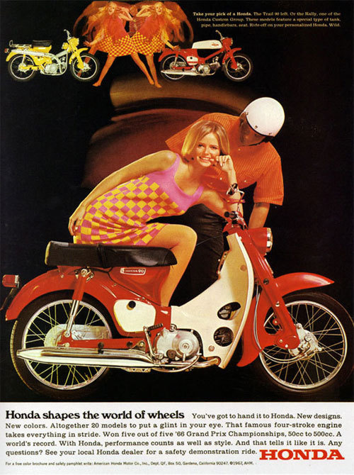 Best Vintage Advertising Honda Shapes World images on
