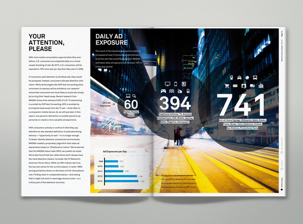 IPG Media Economy Report on the Behance Network #layout #design #typography