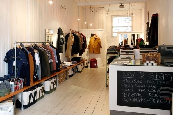 Albam Islington - hipshops in London #wood #white #retail