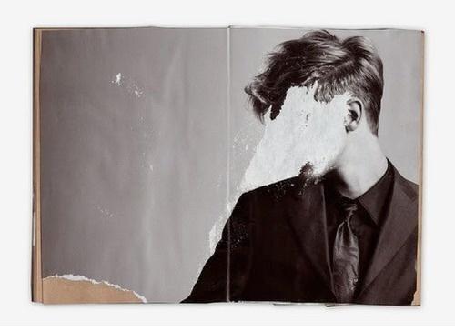 bakmaya değer. #model #torn #male #man #face #suit #paper
