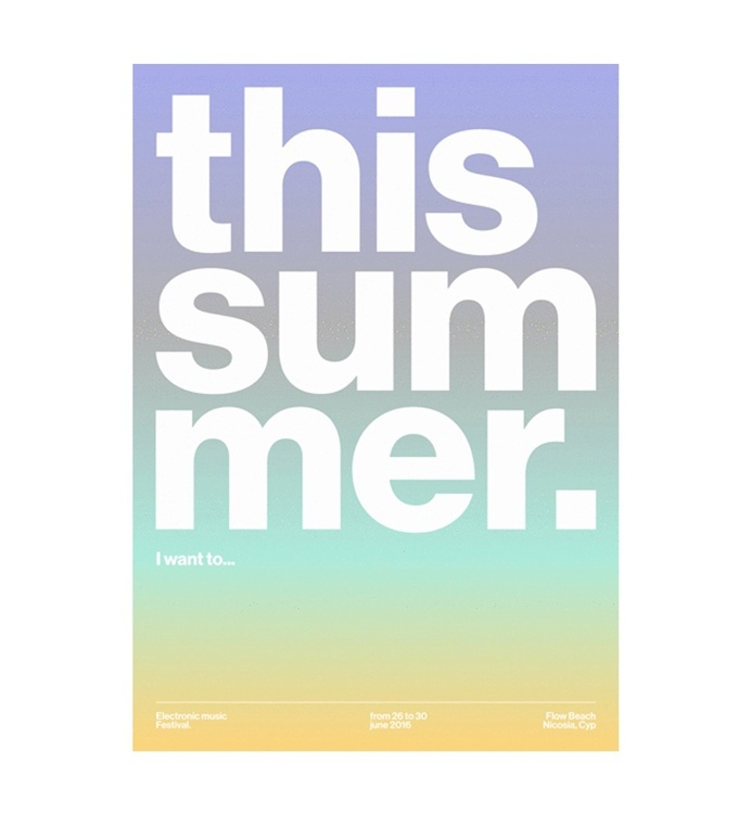 This Summer. I want to... Poster by Attico36 #graphic #design #poster #minimal #grid #swiss #helvetica #typography #typeface #font #modern