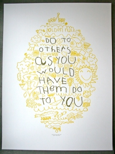Golden Rule Letterpress Poster | Studio On Fire #letterpress #drawn #poster #type #hand