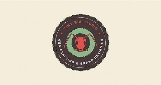 Tiny Big Studio | Logo Design | The Design Inspiration #red #design #brand #studio #logo #ant