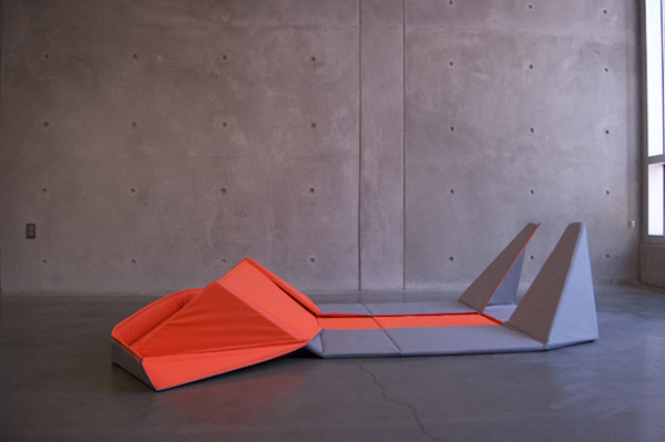 Looking for something functional to put in your space? This origami sofa can be used both as a minimalistic couch or a floor mat. #design #home #product #furniture #industrial