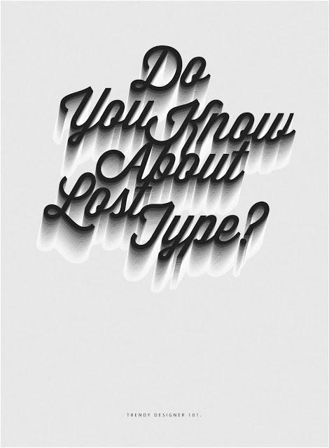 Design Humor #design #poster #type #trendy #lost