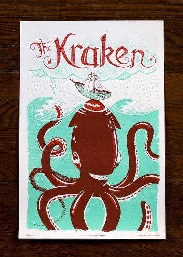 Monster Friends Poster Series – The Avant Garage #monster #illustration #poster #kraken