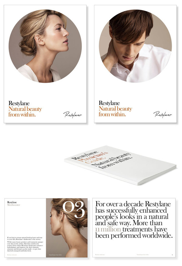Restylane The Dieline #print #layout #book