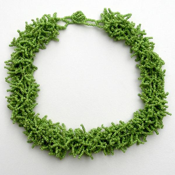 Glass Choker Necklace Green green, vintage, vintage jewelry #beads #jewelry #vintage #necklace #green