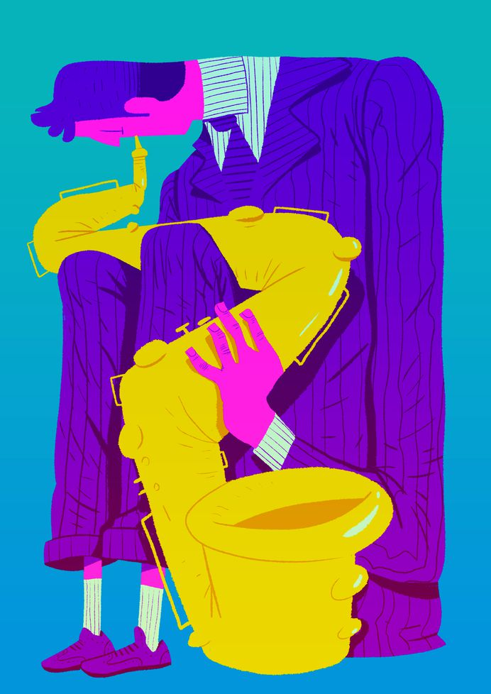 /// Saxophonist /// illustration for poster on Behance