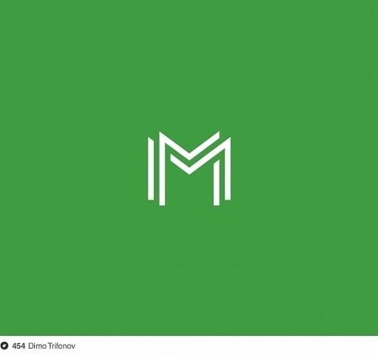 M on Dropula - The inspirational catalogue #logotype #stamp #simple #letter #monogram #minimal #logo
