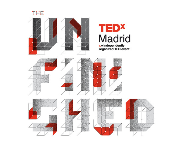"""TEDxMadrid """"The Unfinished"""" on Behance #red #ted #madrid #unifinished #tedx #type #typography"""