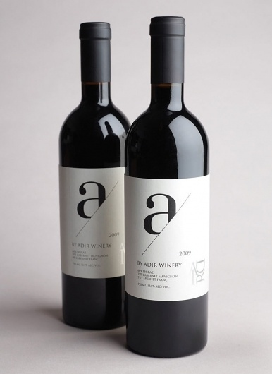 AdirWinery - TheDieline.com - Package Design Blog #typo #wine #bottle
