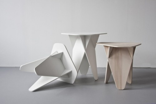 Wedge Table by Andreas Kowalewski #flat #side #minimal #pack #table