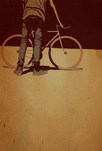 Adams Carvalho Illustrations | #bicycle #vintage #grungy