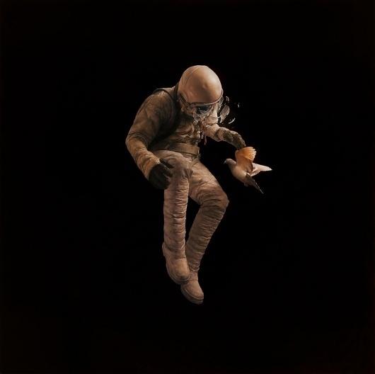 adrift.jpg (JPEG Image, 1000x998 pixels) #astronaut #jeremy #geddes #painting