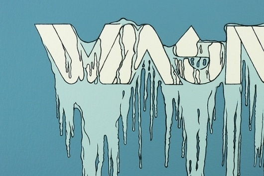 WMSIWT Poster Series on the Behance Network #illustration #poster #blue #ice #drawing