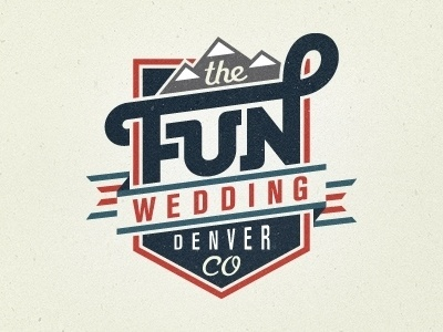 Dribbble - The Fun Wedding by Mackey Saturday #type #logo
