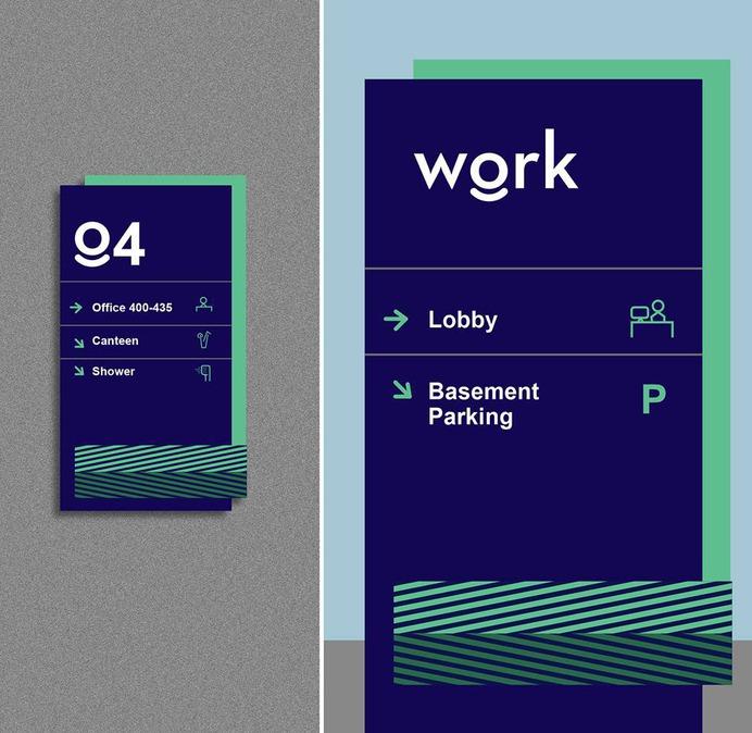 Wayfinding | Signage | Sign | Design | 办公室标识牌