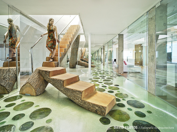 Amazing Tree Staircase in the Tuning House by David Frutos Architecture #staircase #architecture #house #tree