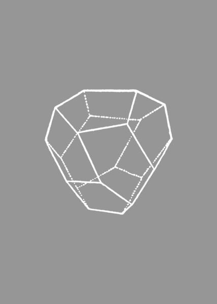 Tetrahedral Pentagonal Dodecahedron Art Print #geometry #poster