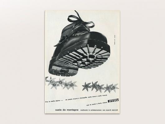 Display | Pirelli Suole Da Montagne Advertisement Lora Lamm | Collection #lora #pirelli #italian #lamm #boot