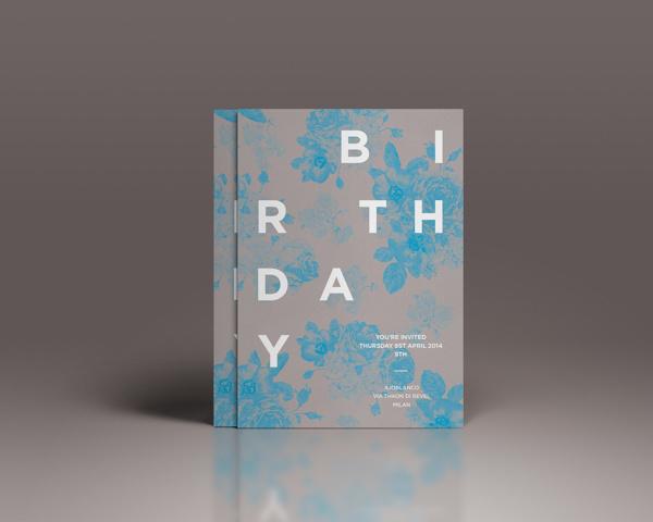 Birthday invitation Dario on Behance #invite #invitation #clean #simple #typography