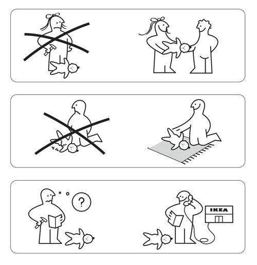 "Audrey Clayton: ""BAB, the Ikea baby"" (PDF) –...   skandalon #line #blackwhite #illustration #ikea #outline"