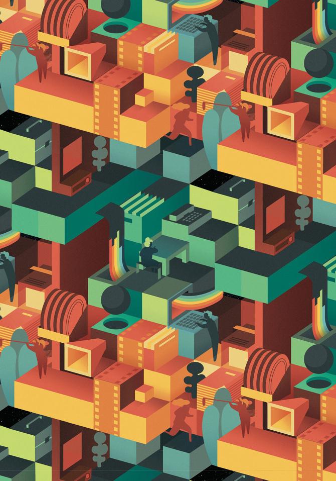 29th Cinema Jove Film Fest - Casmic Lab / diseño gráfico / graphic design #vector #design #illustration #art #painting
