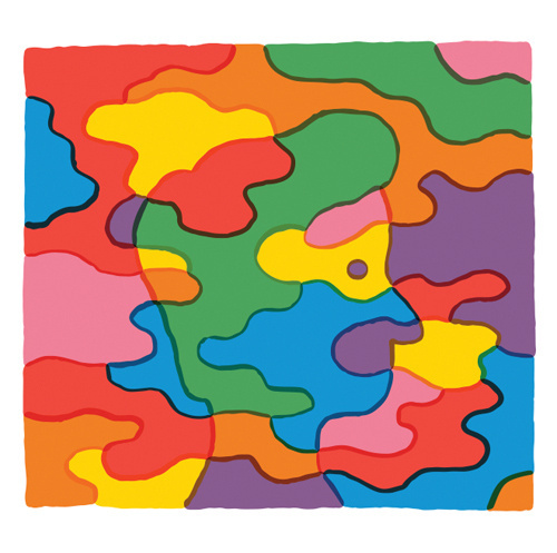 Rainbow camouflage guy for the January 6, 2014 issue of The New Yorker. #tim #lahan