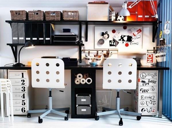 (via Teen Workspaces) #modern #furniture #desk #ikea #workspace