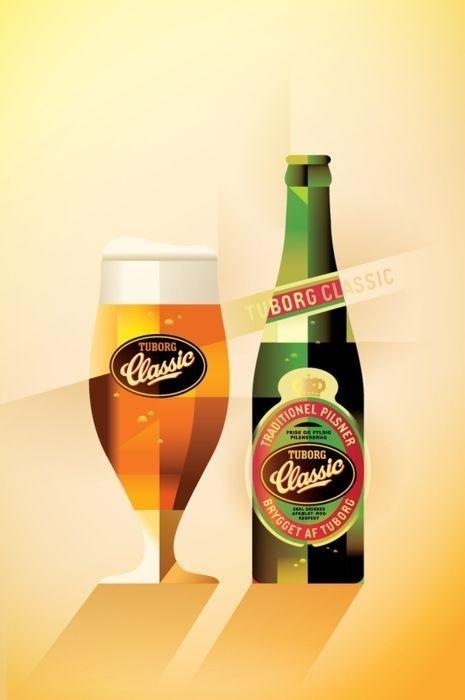 Tuborg Classic #beer #illustration