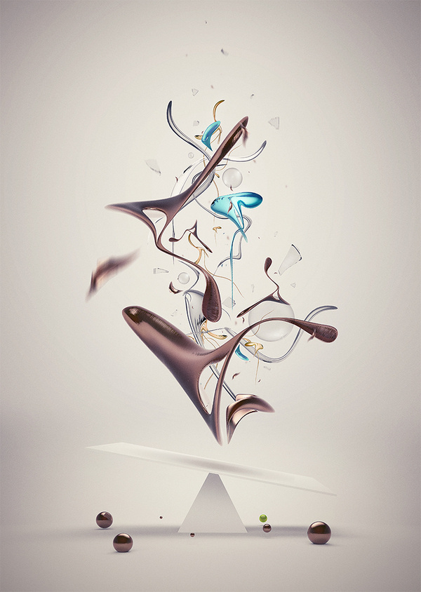 By Elias Klingén #render #elias #klingen #shapes #digital #illustration #art #collage