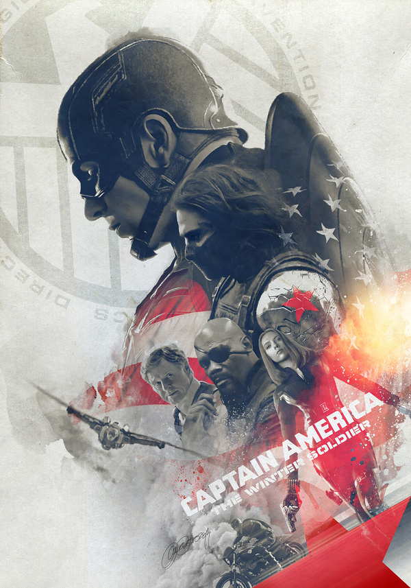 Captain America: The Winter Soldier' Tribute Poster #america #illustration #captain #poster
