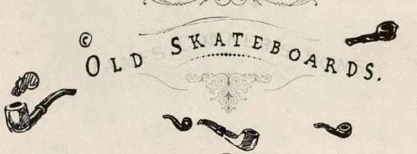 Old Skateboards Hand drawn branding #smoke #branding #design #drawn #pipe #logo #hand