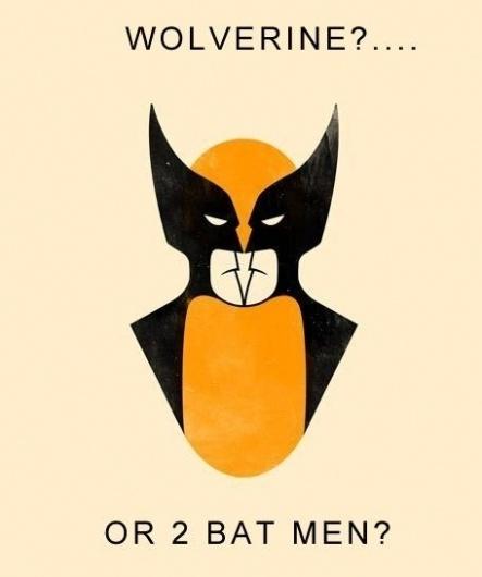 06a3c7ef-5882-4dc0-a986-1a44d2fc7204.jpg 456×545 pixels #illusion #illustration #wolverine #batman
