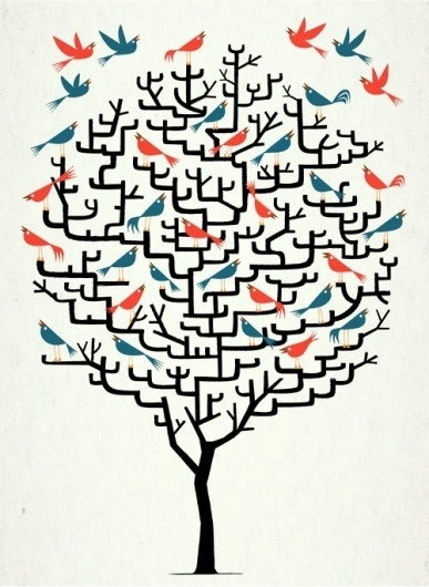 put me in your blue skies. #birds #print #poster #illustration