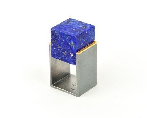 Helfried Kodré Ring: Untitled 2012 Silver, gold, lapislazuli #silver #ring