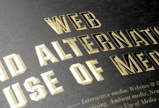ADCE – In Gold We Trust | Conor Cronin #gold #black #typography