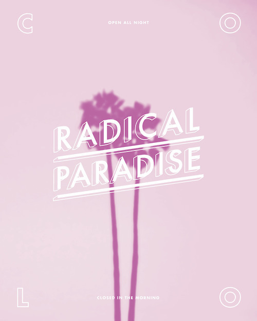 Radical Paradise #palm #tree #paradise #radical #beach #cool
