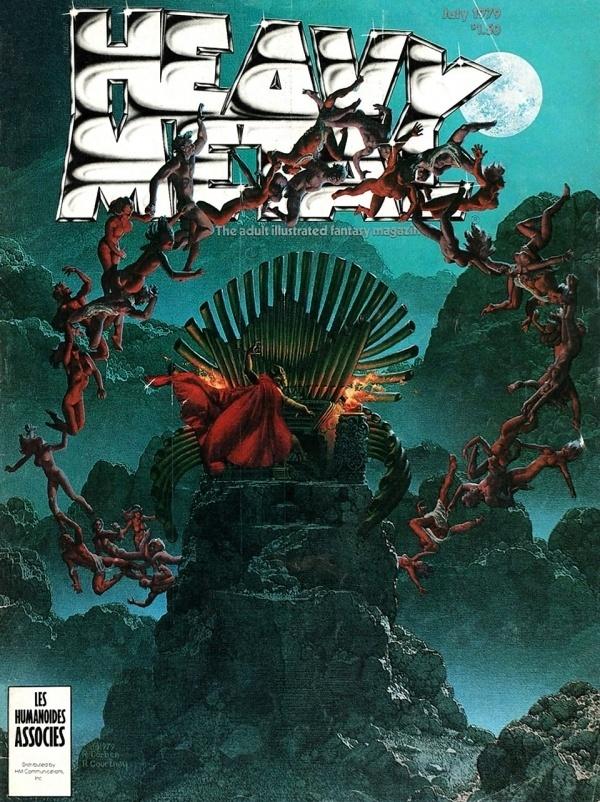 Heavy Metal Magazine Covers: 1970's #metal #illustration #fantasy #heavy