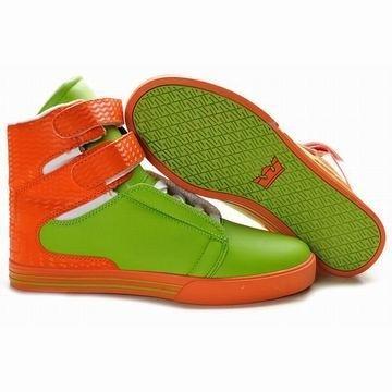 2012 New Supra Tk Society High Tops Green/Orange Men's #shoes