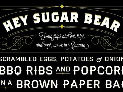 Dribbble - Heysugarbear by Rebecca LaRue #typography