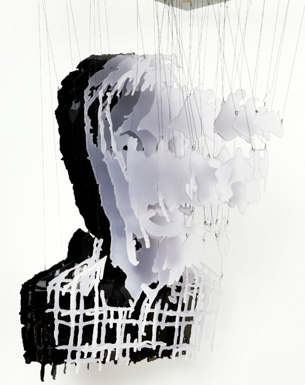 Michael Murphy #glass #portrait #layers #suspended