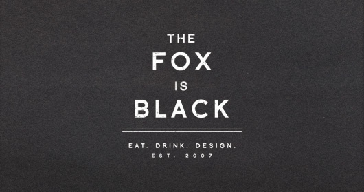 The Fox is Black on The blog of Shelby White - Wanken #logo #typography