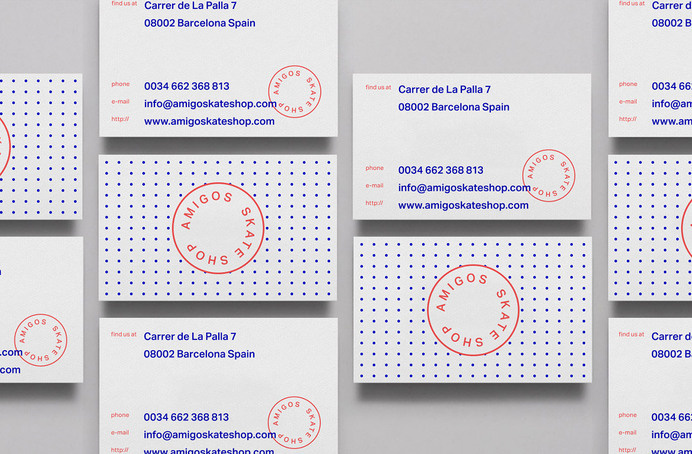 Amigos Skate Shop #business cards #print #identity