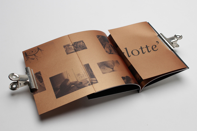 Print with copper paper detail by Passport for interior design consultancy Pure